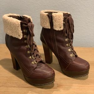 Ankle Boots Leather/Faux Fur